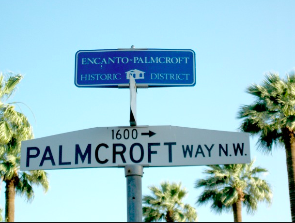 Encanto Palmcroft Neighborhood Sign